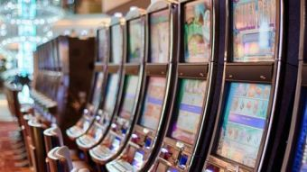Row of betting machines casino 1c