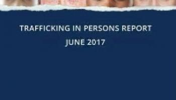 US Trafficking In Persons Report 2017 front cover