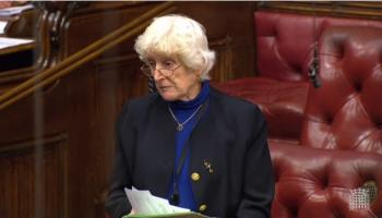 Baroness Butler-Sloss speaking in the House of Lords