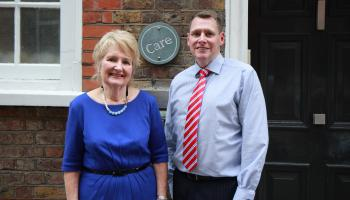 CARE CEO Nola Leach CARE in Northern Ireland Director Tim Martin