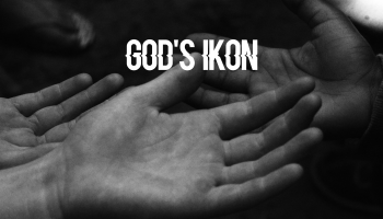 picture of hands with title - God's Ikon