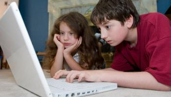 Young people surfing the internet