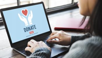 organ donation page on laptop