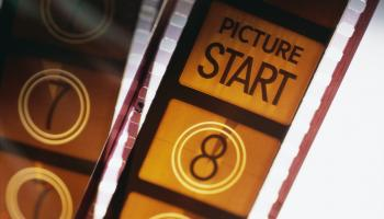Video reel with 'picture start' show within a frame
